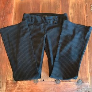 Wet Seal Black Pants with Pinstripes